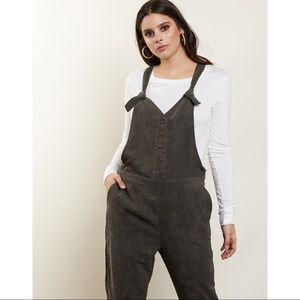 03f6181d573 Pants - 🆕 Olive Green Corduroy Overall Jumpsuit